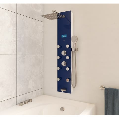 "Ultimus 2800 Rainfall 51"" Shower Panel With Adjustable Head - 3.""W x 51.25""H x 9.5""L"