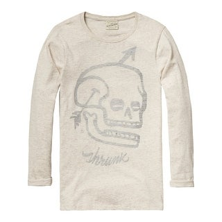 Longer Artwork T-Shirt - Beige