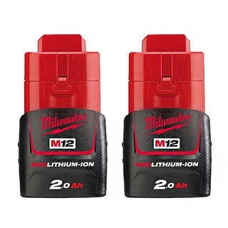 Replacement 2000mAh Battery for Milwaukee 2332 / 2403-20 / 2457-21 Power Tools (2 Pk)