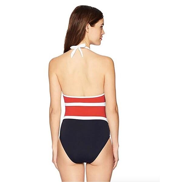 Nautica Womens Classic Halter One Piece Swimsuit