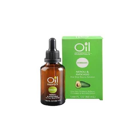 Oil Essentials Neroli & Avocado Essential Oil for Face, Body and Hair 1.69 Fl Oz (50 mL) - Green - 50ml