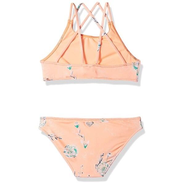 ROXY Girls Big Darling Crop Top Swimsuit Set