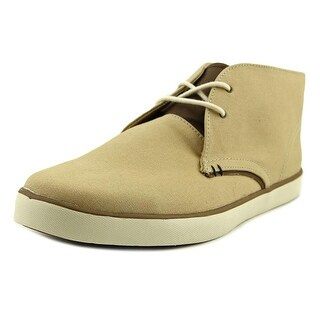 Crevo Darth Men  Round Toe Canvas Tan Chukka Boot