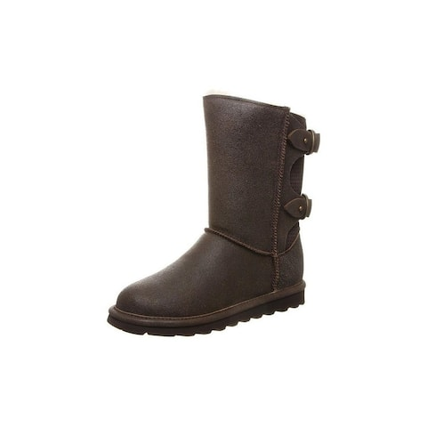 """Bearpaw Casual Boots Womens Clara 8"""" Shaft Double D Ring Straps"""