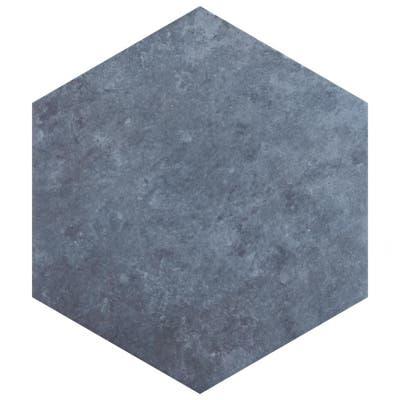 "SomerTile Heritage Hex Indigo 7"" x 8"" Porcelain Floor and Wall Tile"