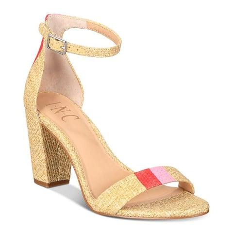 INC International Concepts Womens Kivah Fabric Open Toe Casual Ankle Strap Sa...