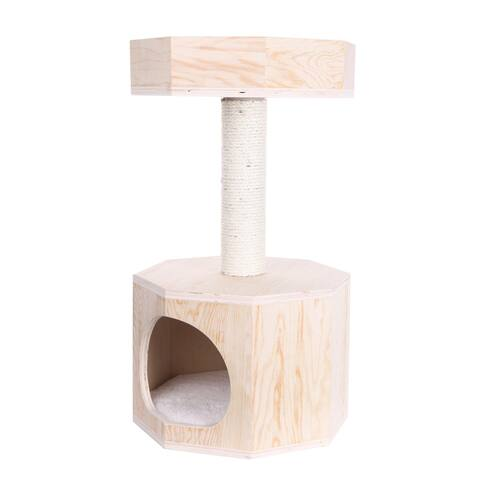 Armarkat Premium Scots Pine 29-Inch Cat Tree with Perch and Condo