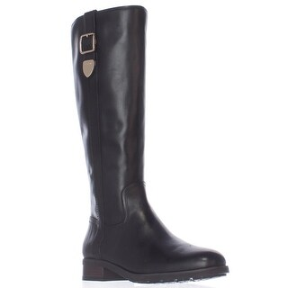 Coach Easton Wide Calf Dress Riding Boots, Black