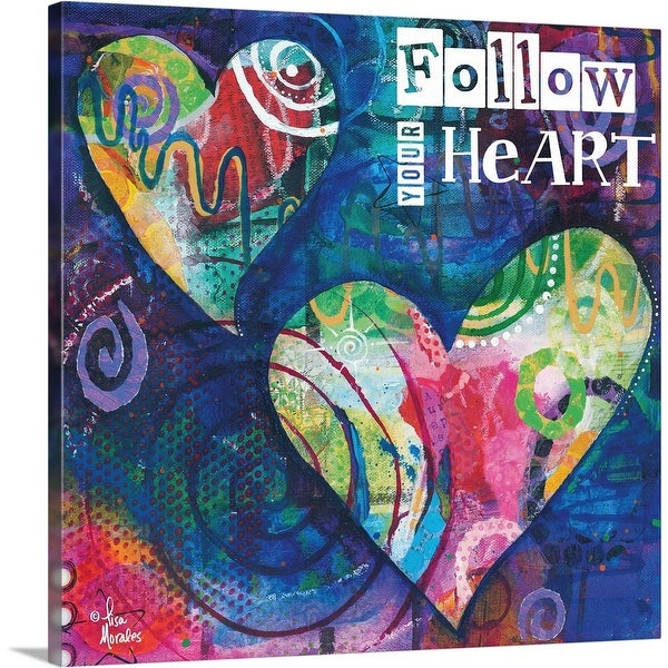 """Follow Your Heart"" Canvas Wall Art"