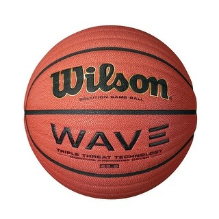 Wilson 28.5-Inch Intermediate Size NCAA Wave Solution Indoor Game Basketball