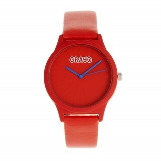 Crayo Splat Leatherette Strap Watch - Red