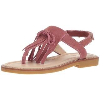 Elephantito Kids' Fringes Sandal, Dusty Pink, Size 1.5 M US Little Kid