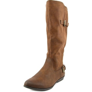White Mountain Finalist Wide Calf Women Round Toe Synthetic Brown Knee High Boot