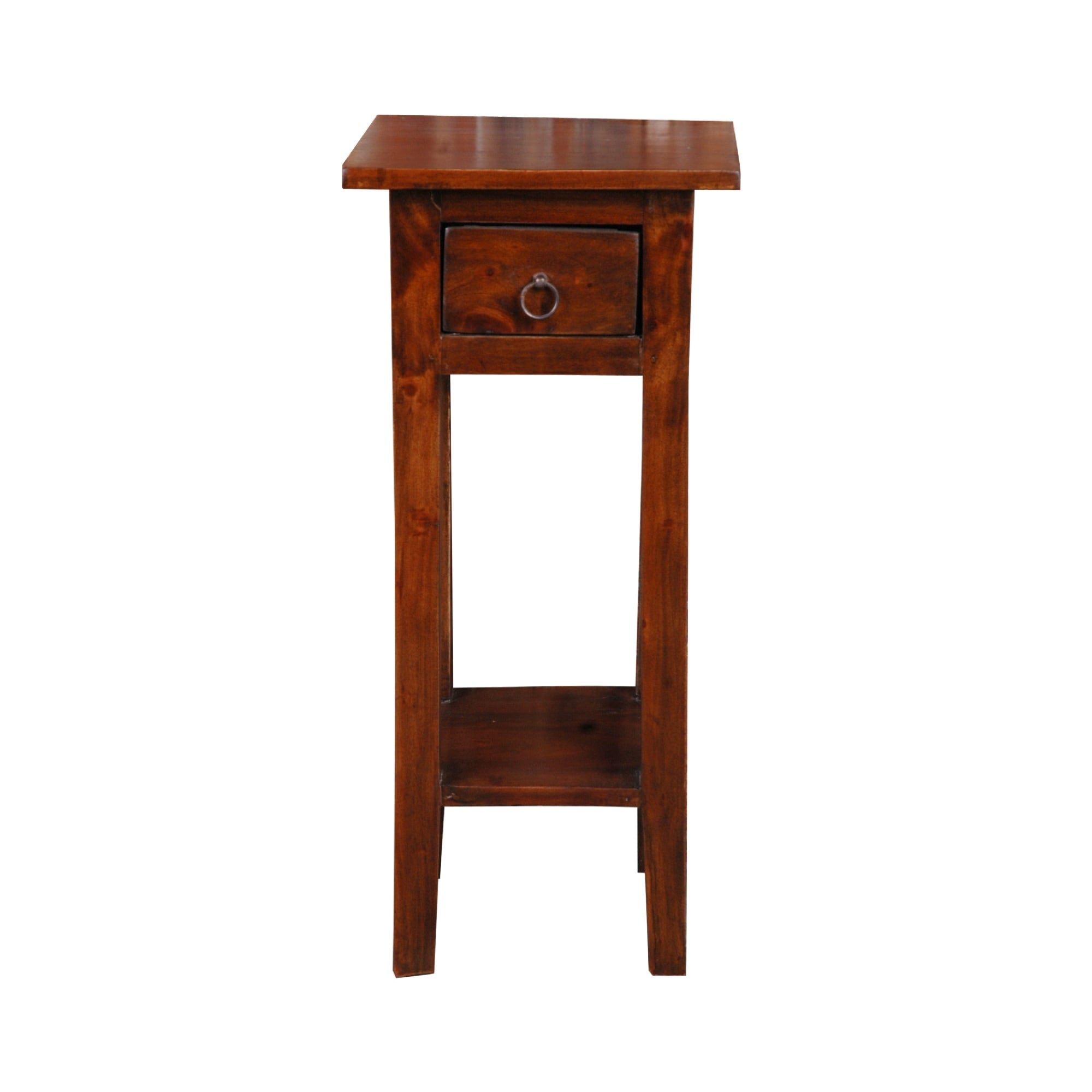 Shop 25 75 Brown Cottage Narrow Side Table With Drawer N A