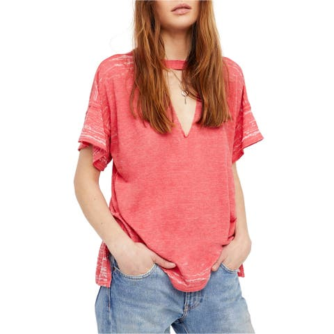 Free People Womens Jordan Cuout Basic T-Shirt