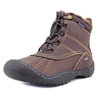 J-41 Christine Women Round Toe Synthetic Brown Winter Boot