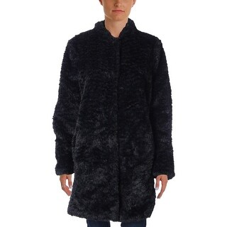 Kenneth Cole New York Womens Faux Fur Coat Winter Jacket