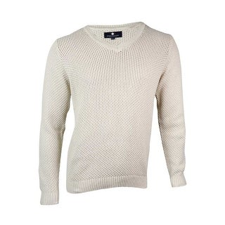 Argyleculture Men's Honeycomb Knit V-Neck Sweater - S