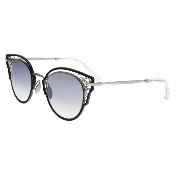 49dfcaa59bde Shop Jimmy Choo DHELIA S 284 Black Cat Eye Sunglasses - No Size ...