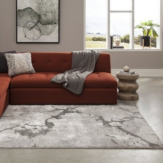 "Momeni Matrix Halden Grey Abstract Area Rug (7'6 x 9'6) - 7'6"" x 9'6"""