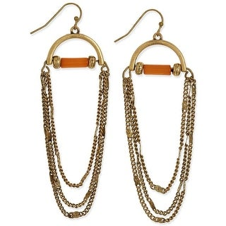 Macys Half-Moon Draped Chain-Link Drop Earrings - Gold