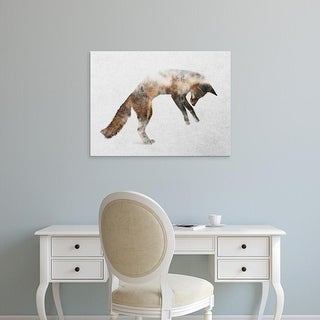 Easy Art Prints Andreas Lie's 'Jumping Fox' Premium Canvas Art