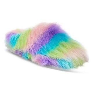 Betsey Johnson Womens SPLASH Faux Fur Closed Toe Slip On Slippers (3 options available)