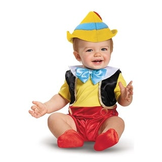 Disguise Pinocchio Deluxe Infant Costume - Yellow/Red/Blue
