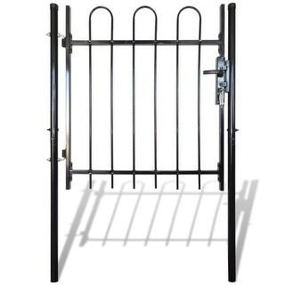 """vidaXL Single Door Fence Gate with Hoop Top 39.4""""x39.4"""""""