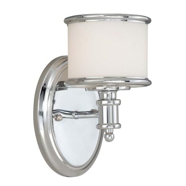 "Vaxcel Lighting CR-VLU001 Carlisle 1-Light 8"" High Bathroom Sconce"