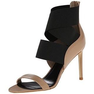 Delman Womens Jean Dress Sandals Leather Colorblock - 9 medium (b,m)