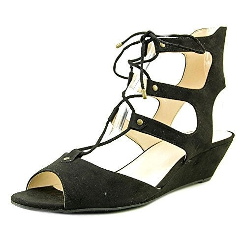 INC International Concepts Womens Mandie Open Toe Ankle Strap Wedge Pumps - 7