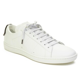 Saint Laurent Men's Leather Signature Court Classic Lips Sneaker Shoes White