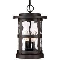 "Designers Fountain 22734 Terraze 3 Light 9"" Wide Outdoor Lantern Style Pendant"