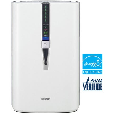 Sharp Triple Action Plasmacluster White Plastic/Metal 341-square foot Air Purifier with Humidifying Function