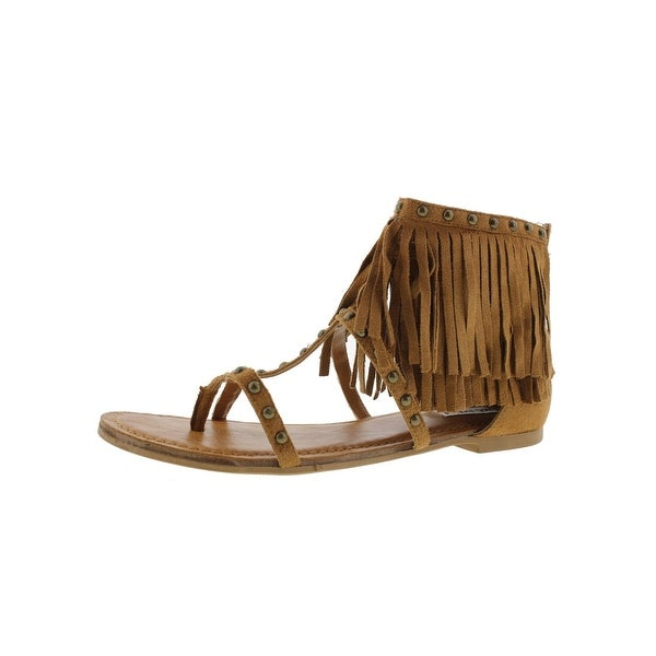 4498ffd32 Shop Not Rated Womens Xenia Dress Sandals Faux Suede Fringe - Free ...