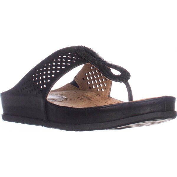 Baretraps Chinda Flat Comfort Thong Sandals, Black