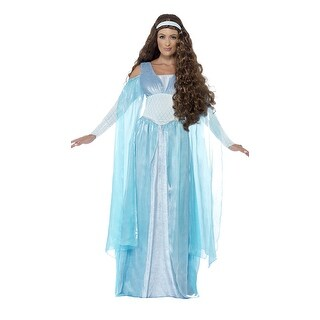 Light Blue Medieval Maiden Costume, Hoty Medieval Costume (Option: S)