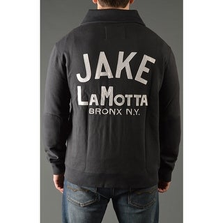 Roots of Fight Jake LaMotta Throwback Button-Front Cardigan Jacket - Black