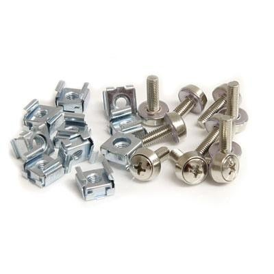 Startech Cabscrewm5 M5 Mounting Screws And Cage Nuts For Server Rack Cabinet - Rack Screws And Nuts (Pack Of 50 )