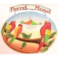 Drum Top Haitian Hand-Painted Parrot Head Metal Hood Sign - Thumbnail 0