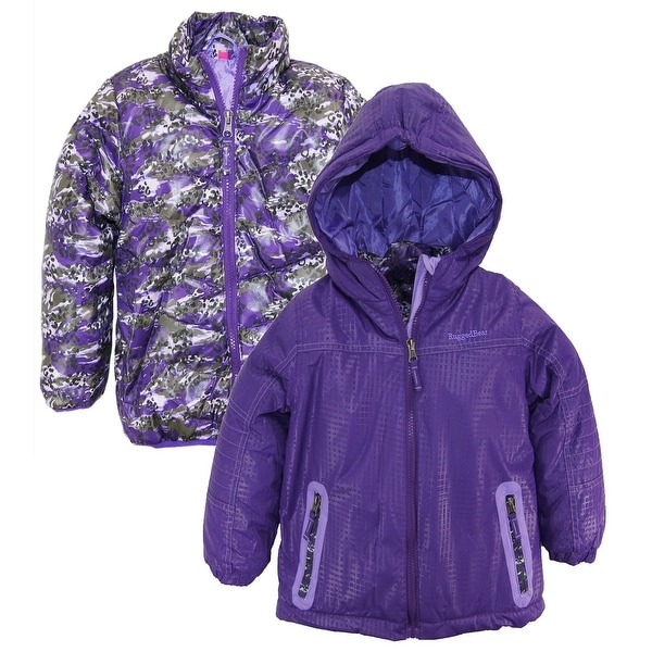 1b6b7eb01 Rugged Bear Toddler Girls System Winter Coat Camo Cheetah Quilted Jacket  size 4T
