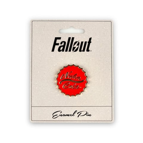 Fallout Nuka Cola Enamel Collector Pin - White