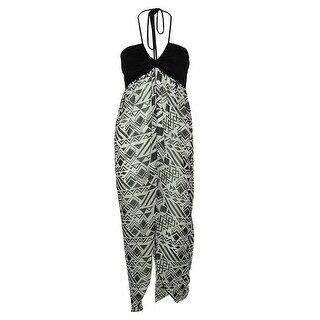 Miken Women's Flyaway Maxi Dress Swin Cover ups - Black