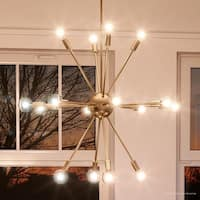"""Luxury Modern Chandelier, 25.5""""H x 24.167""""W, with Vintage Style, Brushed Bronze Finish by Urban Ambiance"""