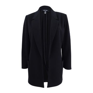 Link to Nine West Women's Open-Front Topper Jacket - Black Similar Items in Suits & Suit Separates