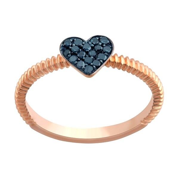 Prism Jewel Round Blue Diamond Heart Shaped Valentine Ring