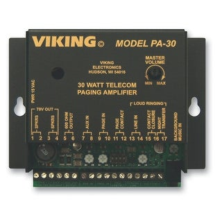Viking Electronics VK-PA-30M Viking 30 Watt Telecom Pagin Amp