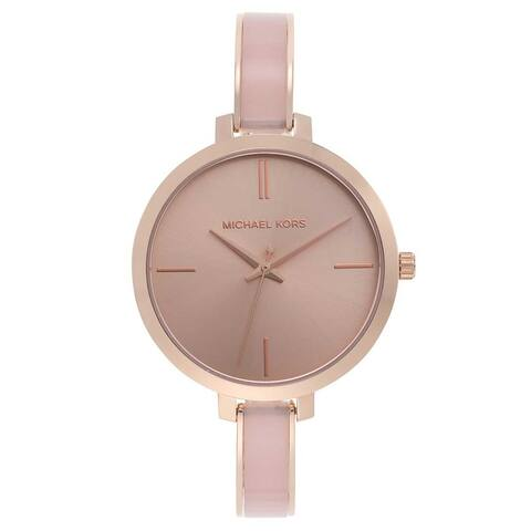 Michael Kors Women's MK4343 Jaryn Rose Gold Stainless Steel Watch - One Size