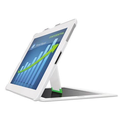 Leitz Landscape View Privacy Case w/ Stand for iPad 2/3/4, White
